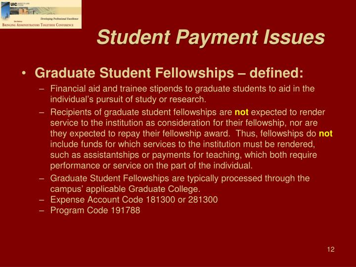Student Payment Issues