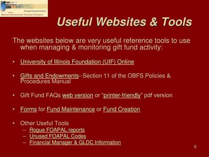 Useful Websites & Tools