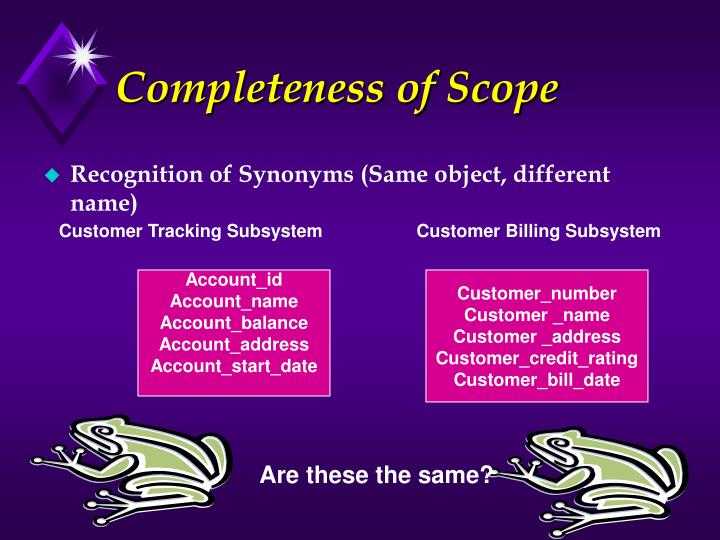 Completeness of Scope