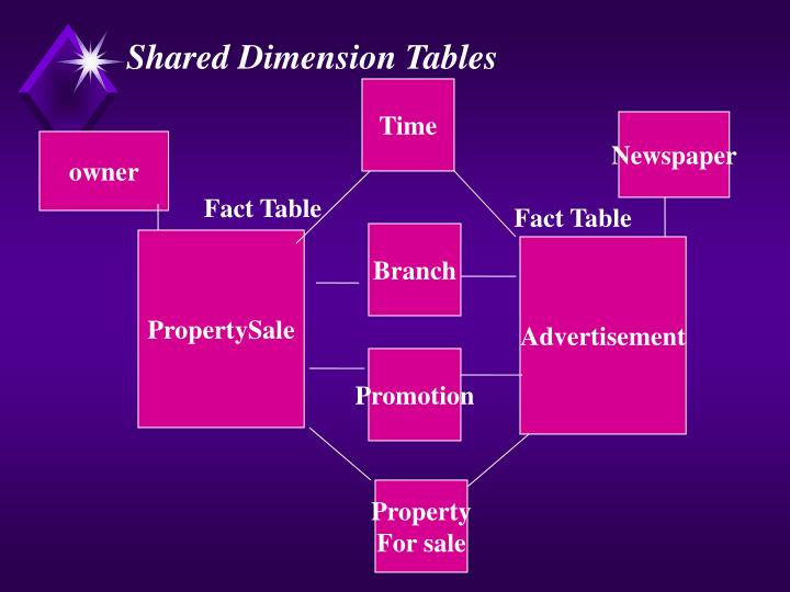Shared Dimension Tables