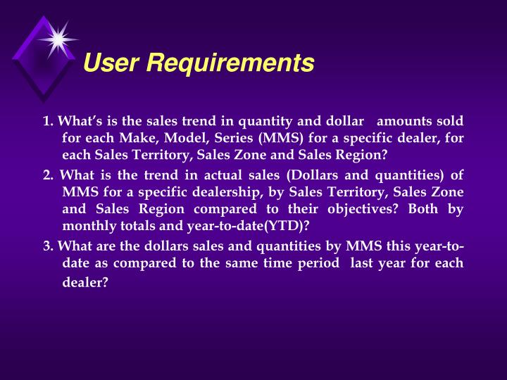 User Requirements