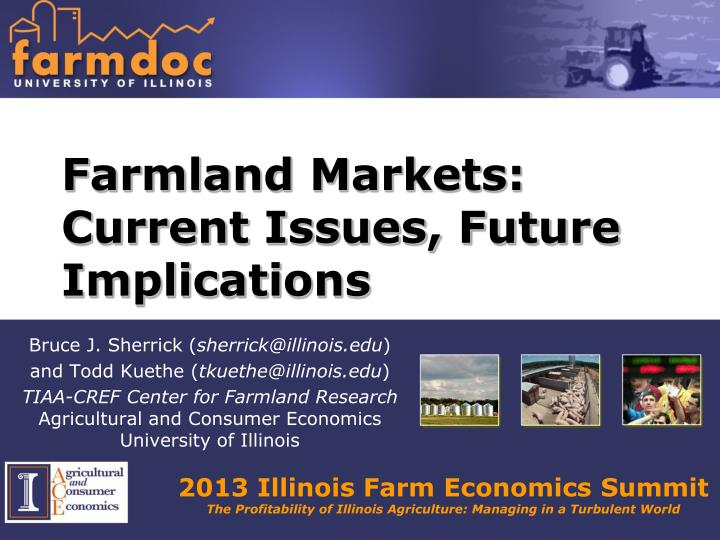 Farmland markets current issues future implications
