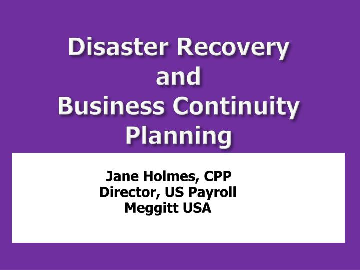 business continuity and disaster recovery planning 2015-5-22  business continuity and disaster recovery planning: the basics good business continuity plans will keep your company up and running through interruptions of any kind: power failures, it system crashes, natural disasters, supply chain problems and.
