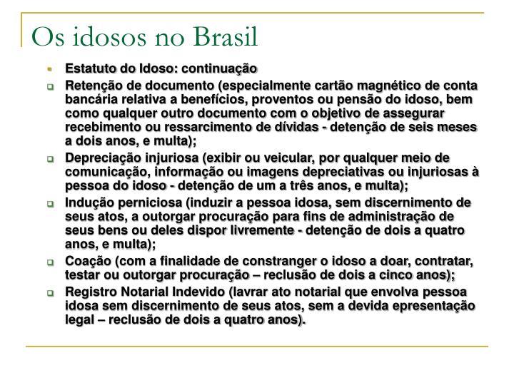 Os idosos no Brasil