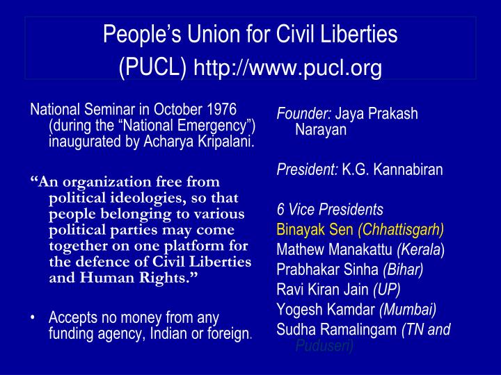 People's Union for Civil Liberties