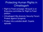 protecting human rights in chhattisgarh