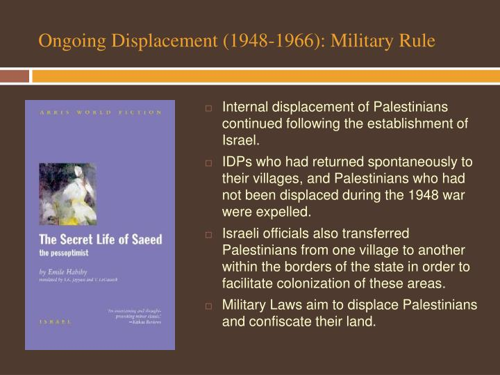 Ongoing Displacement (1948-1966): Military Rule