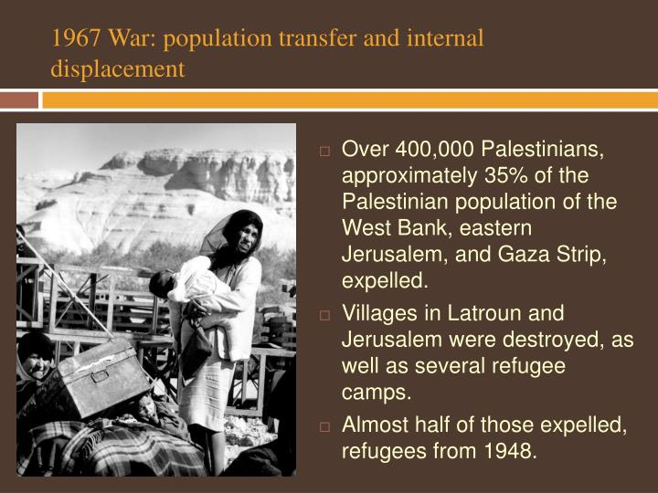 1967 War: population transfer and internal displacement