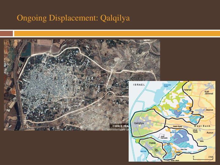 Ongoing Displacement: Qalqilya