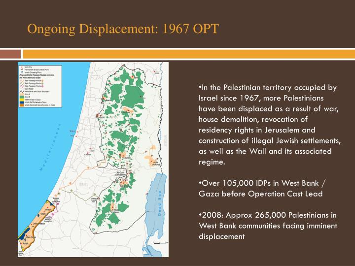 Ongoing Displacement: 1967 OPT
