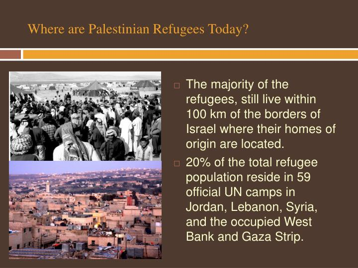 Where are Palestinian Refugees Today?