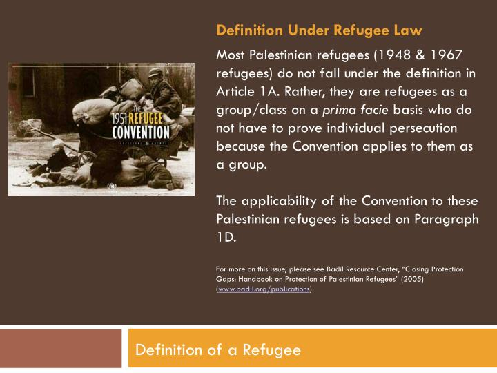 Definition Under Refugee Law