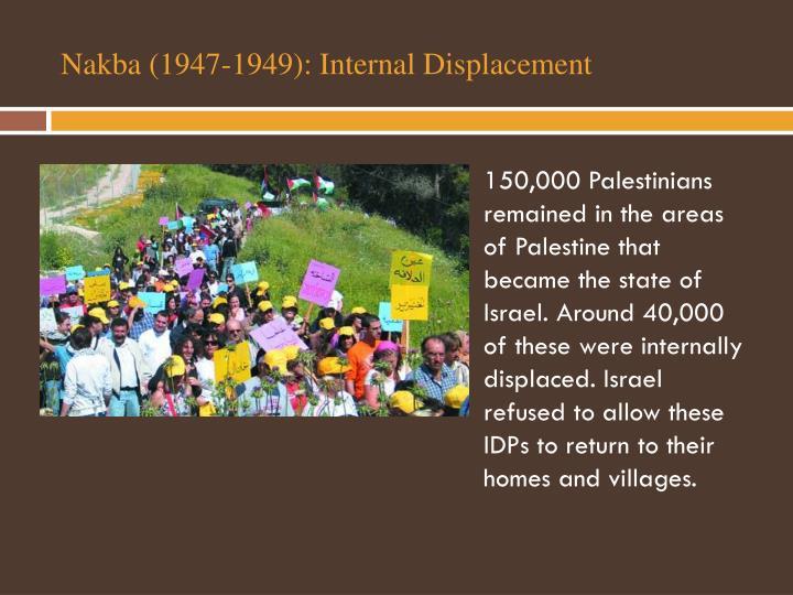 Nakba (1947-1949): Internal Displacement
