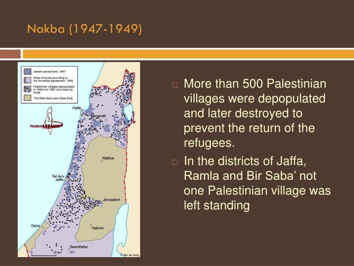 Nakba (1947-1949)