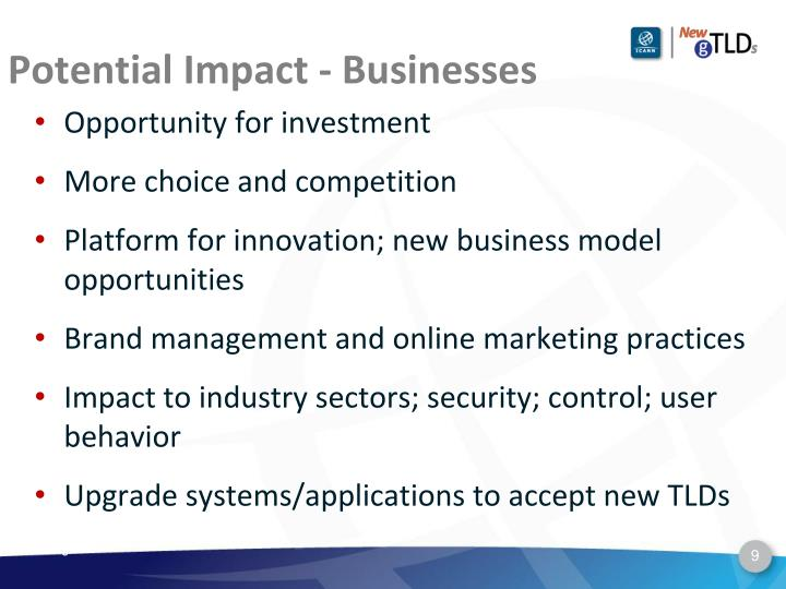 Potential Impact - Businesses