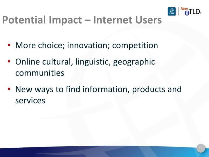 Potential Impact – Internet Users