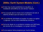 2000s earth system models cont