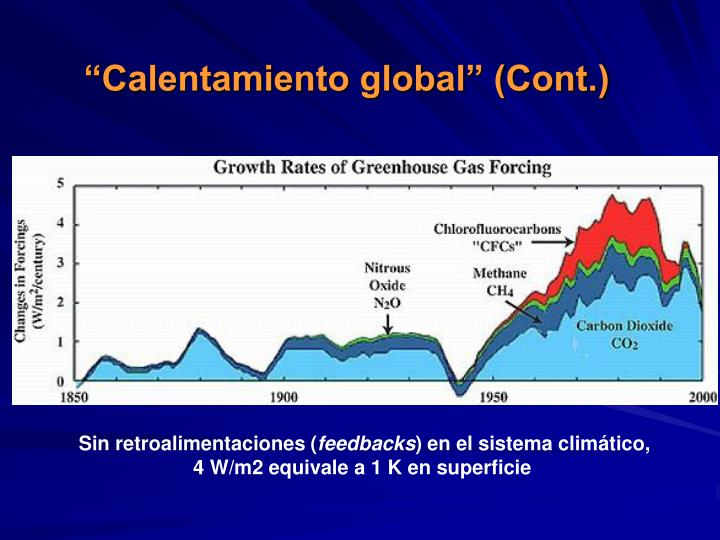 """""""Calentamiento global"""" (Cont.)"""