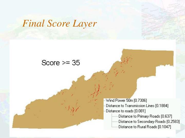 Final Score Layer