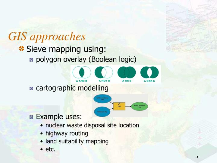 GIS approaches