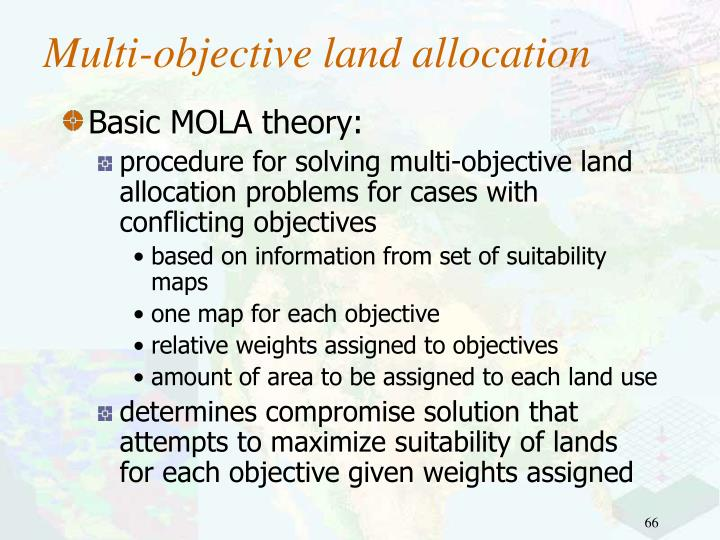 Multi-objective land allocation