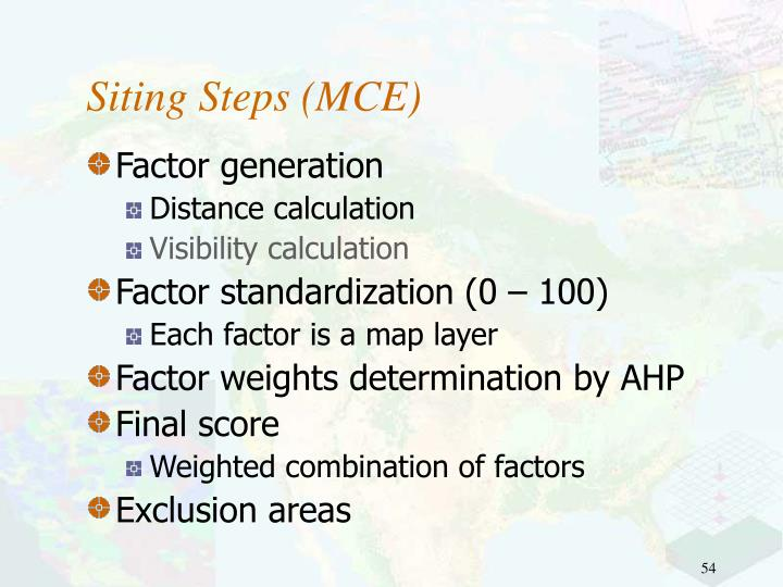 Siting Steps (MCE)