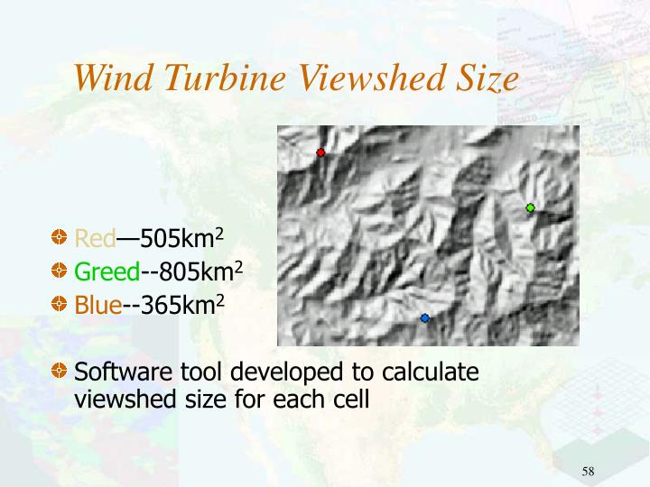 Wind Turbine Viewshed Size