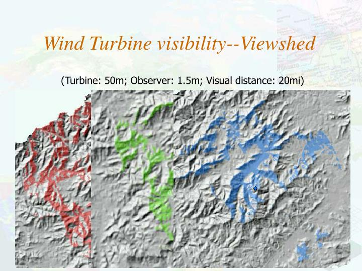 (Turbine: 50m; Observer: 1.5m; Visual distance: 20mi)