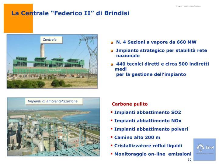 """La Centrale """"Federico II"""" di Brindisi"""