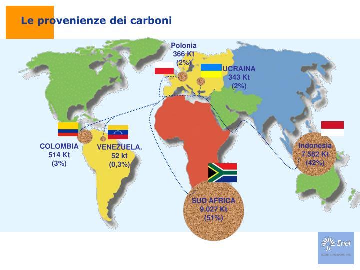 Le provenienze dei carboni