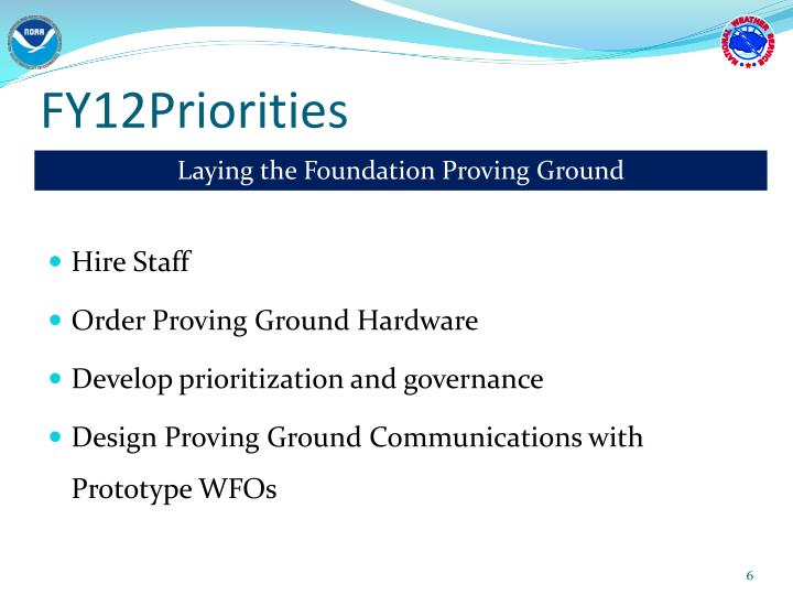 FY12Priorities