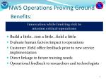 nws operations proving ground benefits
