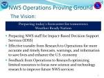 nws operations proving ground the vision