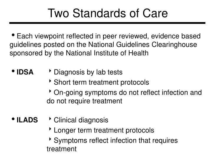 Two Standards of Care