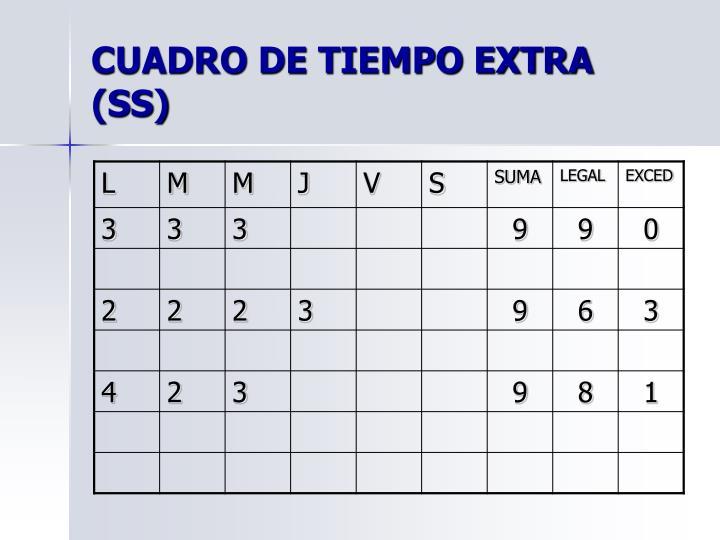CUADRO DE TIEMPO EXTRA (SS)