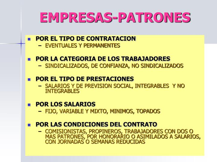 EMPRESAS-PATRONES