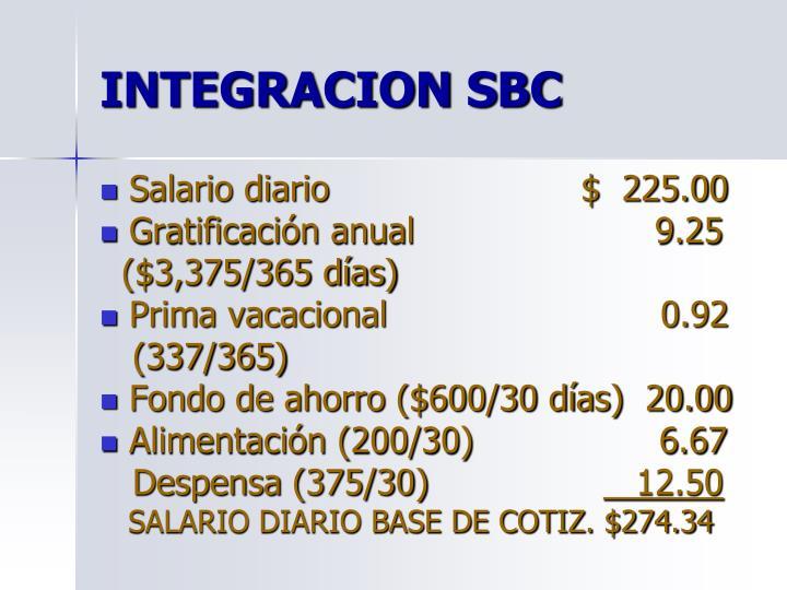 INTEGRACION SBC