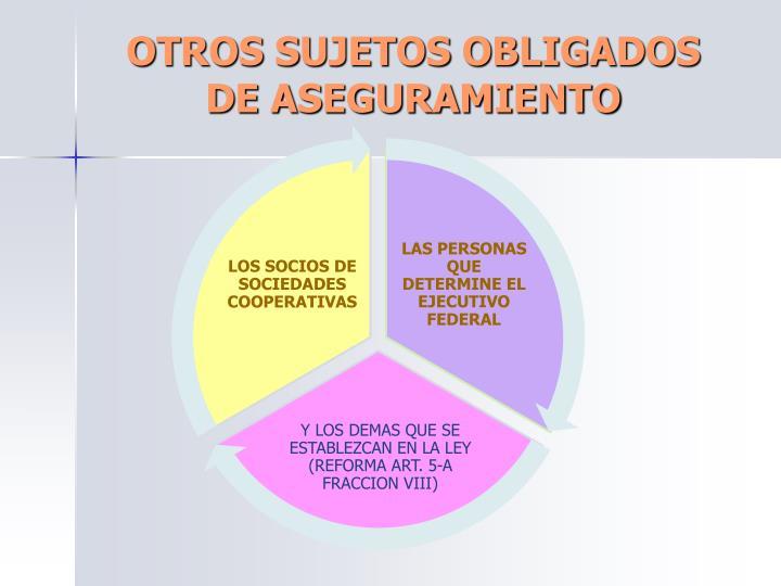 OTROS SUJETOS OBLIGADOS DE ASEGURAMIENTO