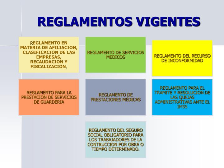 REGLAMENTOS VIGENTES