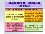 salario base de cotizacion sbc o sdi1