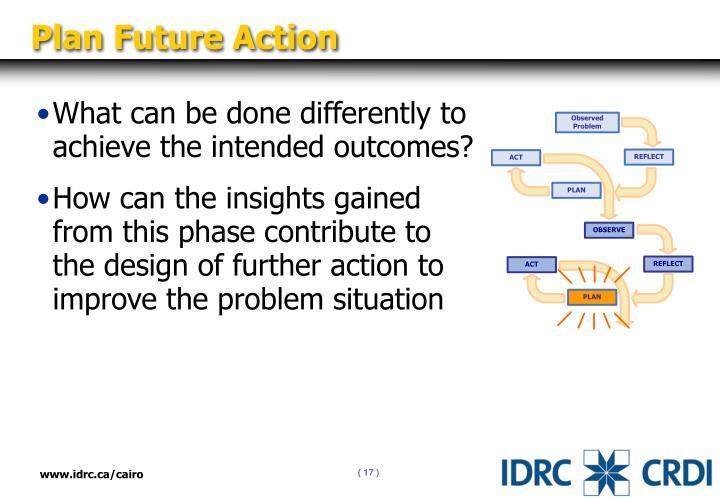 Plan Future Action