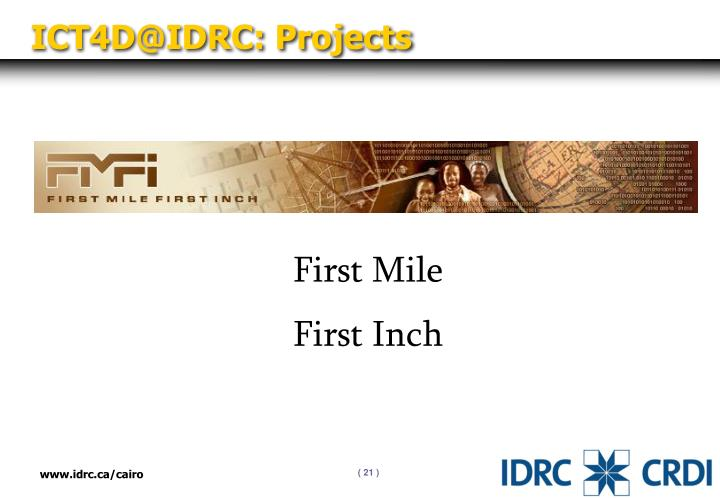 ICT4D@IDRC: Projects