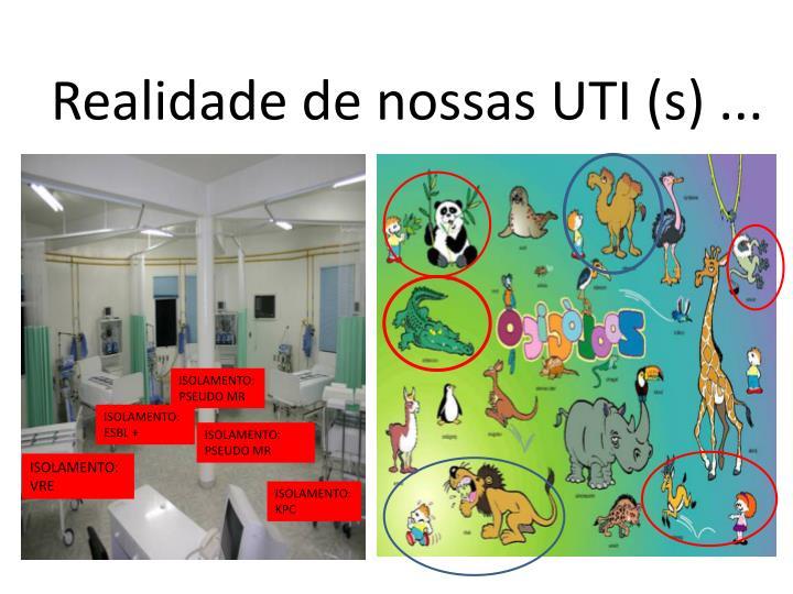 Realidade de nossas UTI (s) ...