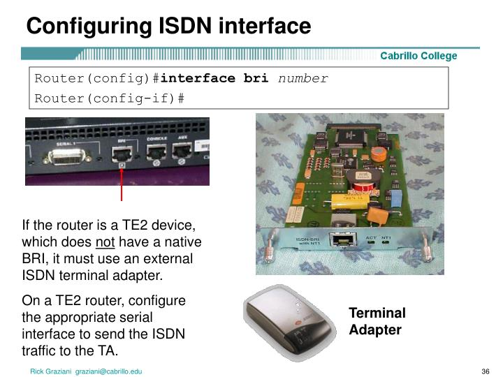 Configuring ISDN interface