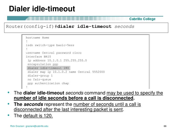 Dialer idle-timeout