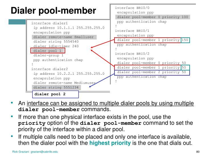 Dialer pool-member