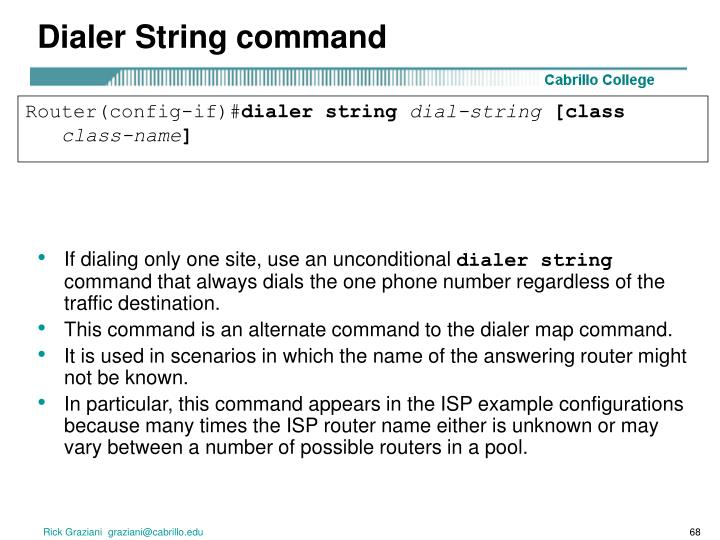 Dialer String command