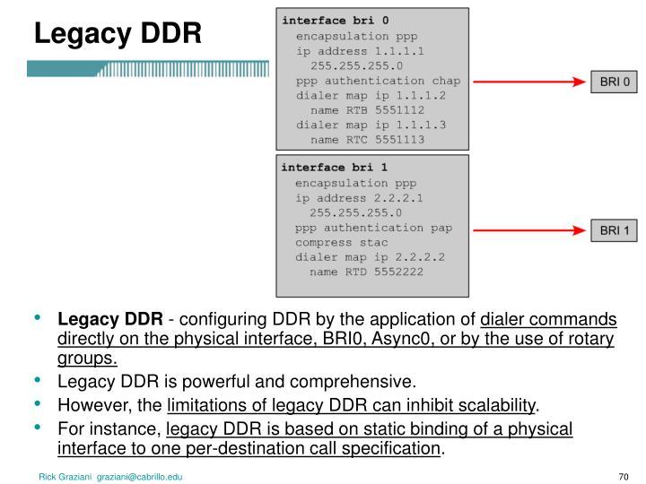 Legacy DDR