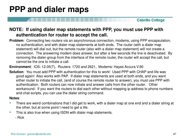 PPP and dialer maps