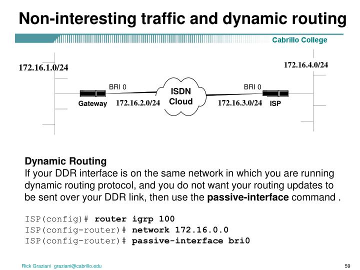 Non-interesting traffic and dynamic routing